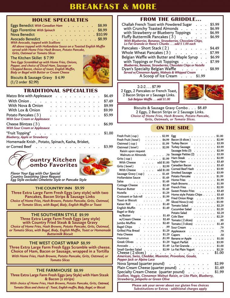 Second Image of breakfast menu