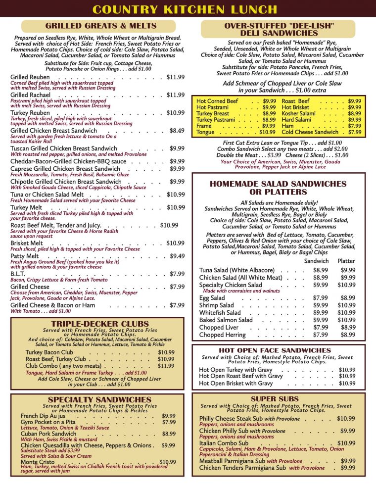Lunch Menu Image 1